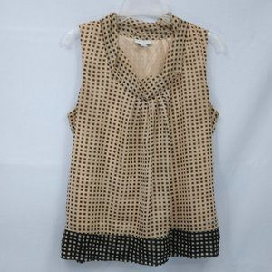 ⭐ New York & Co Checked Tank Top Smock Blouse